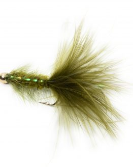 BH Bugger Flash Back Olive Fishing Fly