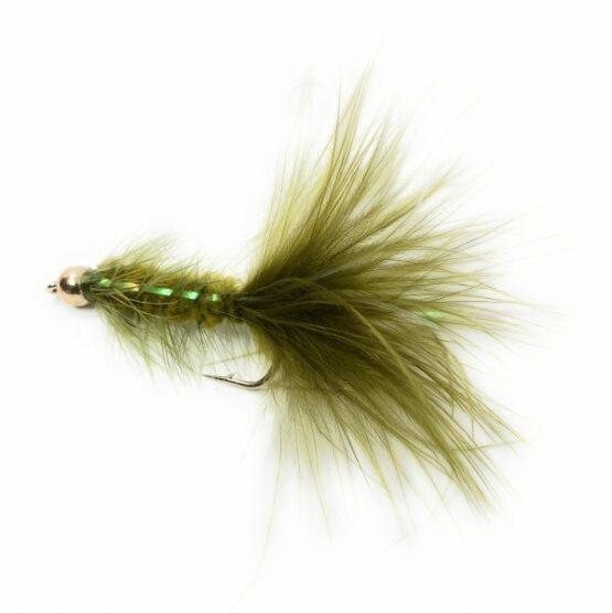 BH Bugger Flash Back Olive Fishing Fly
