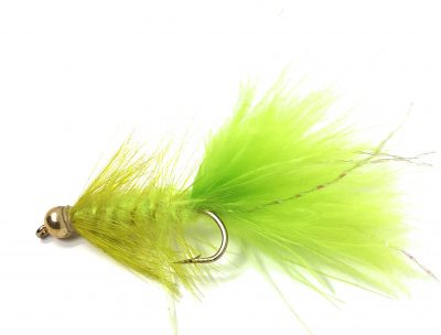 BH Wooly Bugger Chartruis Fishing Fly